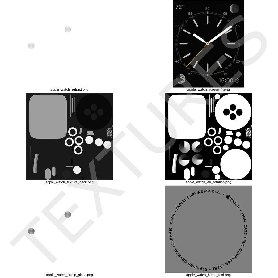 Apple Watch 42mm Link Bracelet Dark Space 2 3D 모델 royalty-free 3d model - Preview no. 26
