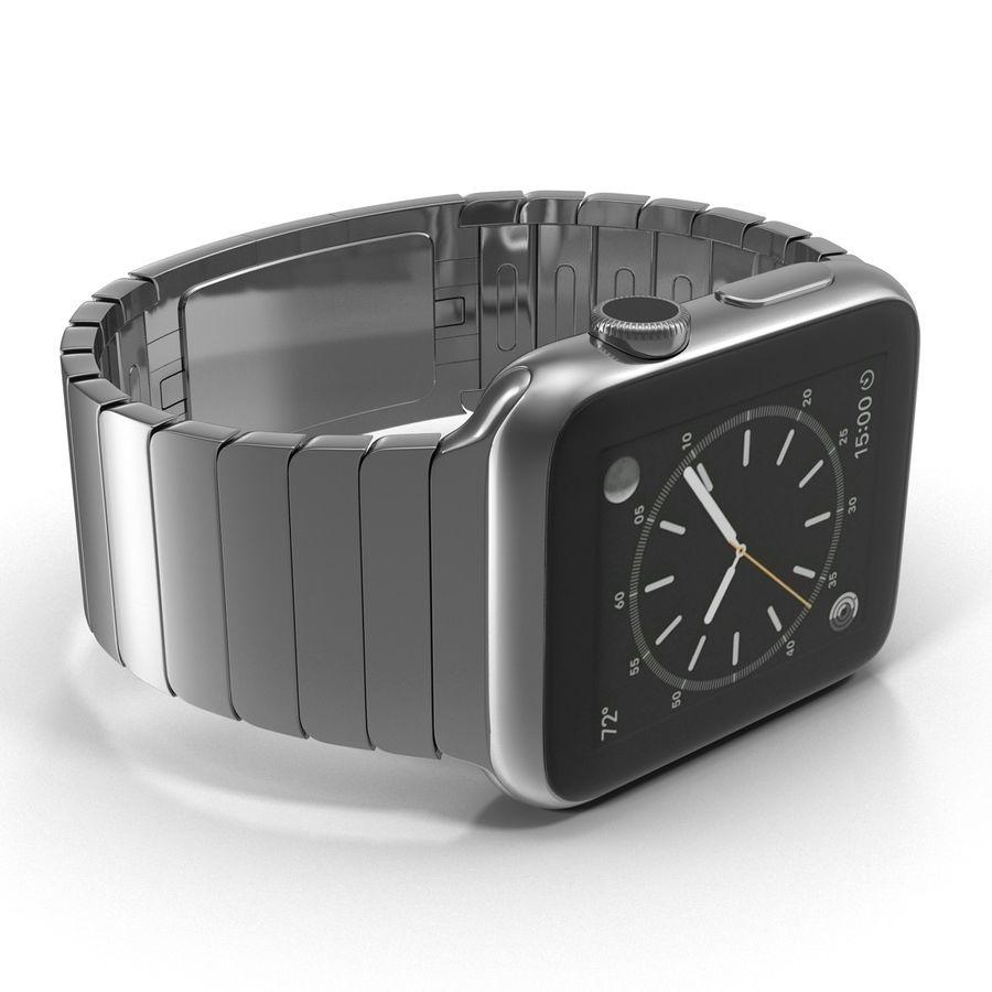 Apple Watch 42mm Link Bracelet Dark Space 2 3D 모델 royalty-free 3d model - Preview no. 14