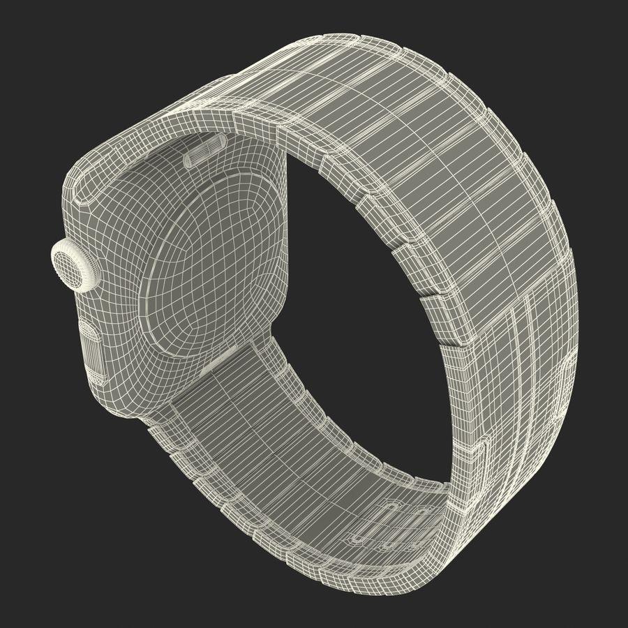 Apple Watch 42mm Link Bracelet Dark Space 2 3D 모델 royalty-free 3d model - Preview no. 29