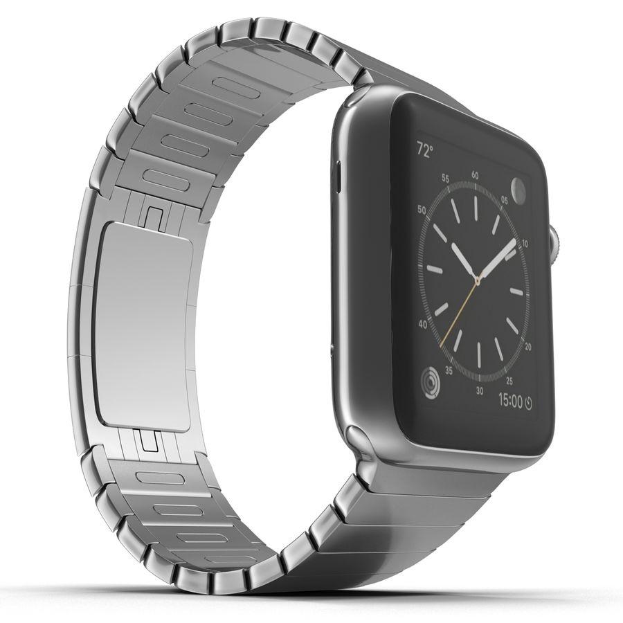 Apple Watch 42mm Link Bracelet Dark Space 2 3D 모델 royalty-free 3d model - Preview no. 8