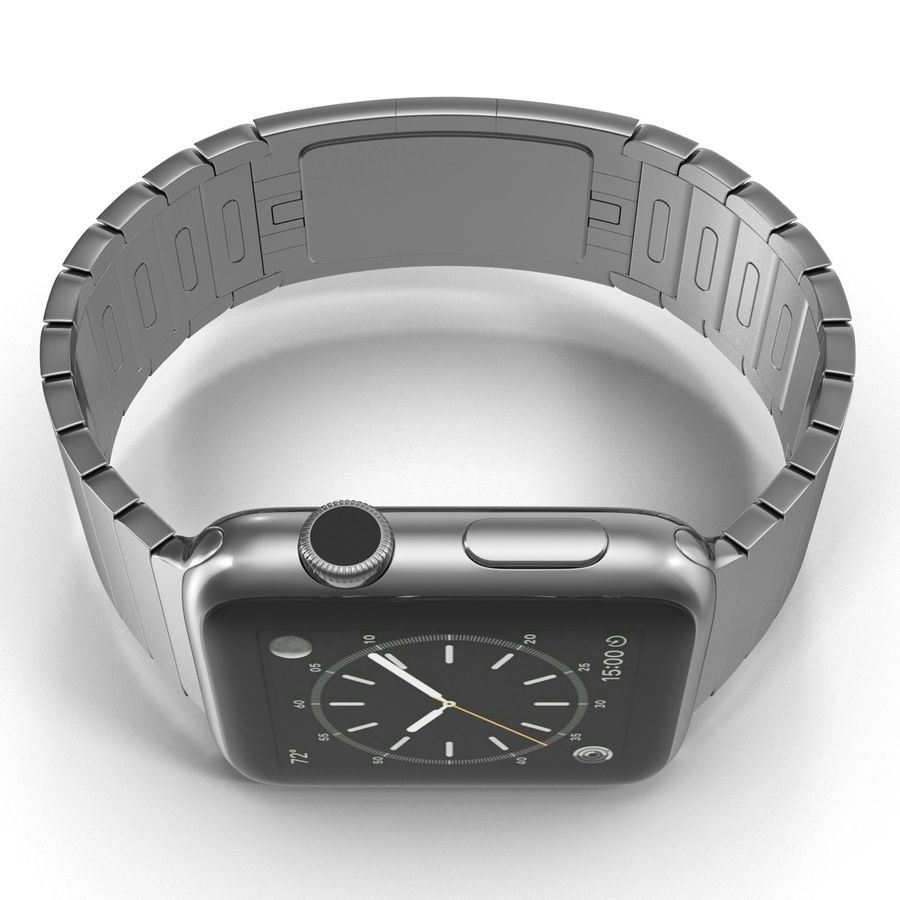 Apple Watch 42mm Link Bracelet Dark Space 2 3D 모델 royalty-free 3d model - Preview no. 11