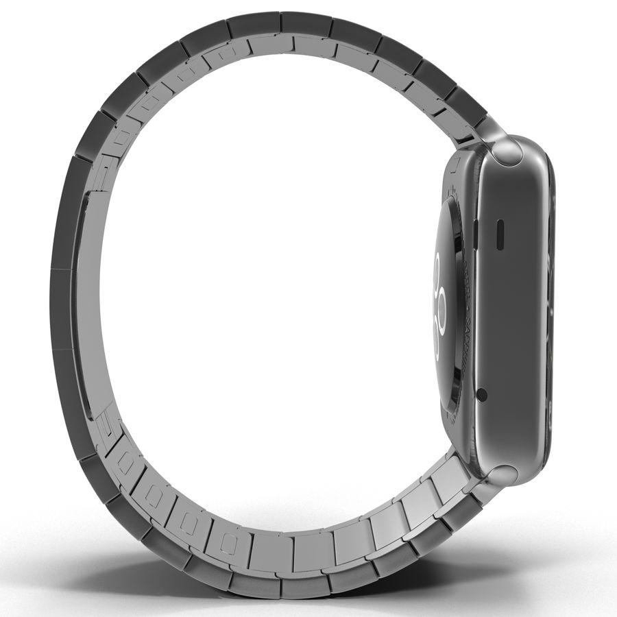 Apple Watch 42mm Link Bracelet Dark Space 2 3D 모델 royalty-free 3d model - Preview no. 7