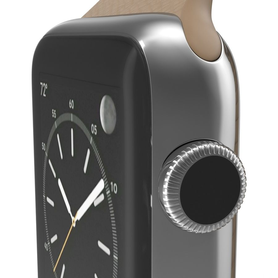 Apple Watch Brown Leather Magnetic Closure 2 3D 모델 royalty-free 3d model - Preview no. 19