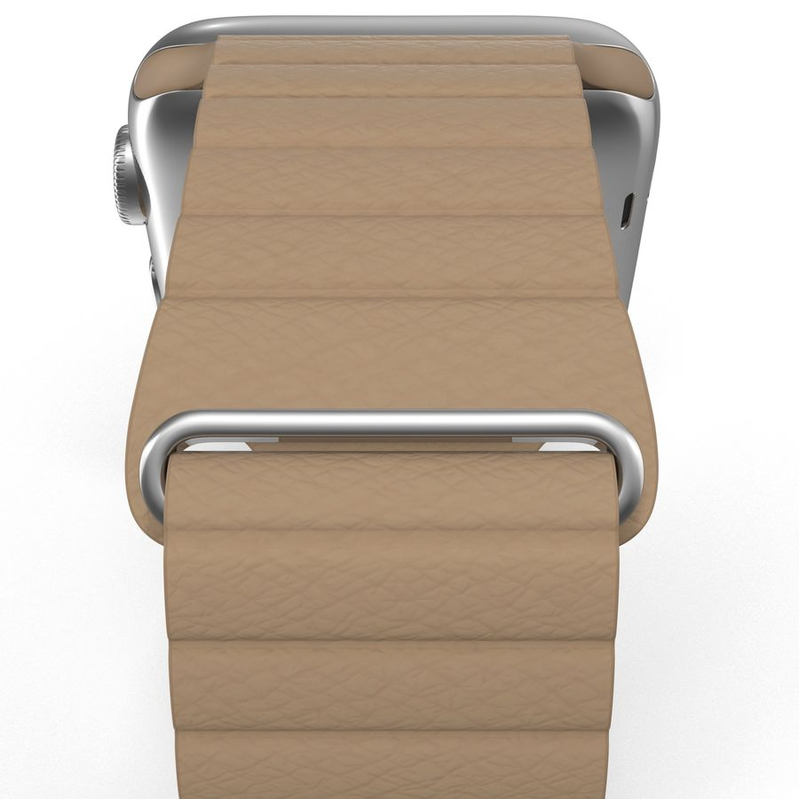 Apple Watch Brown Leather Magnetic Closure 2 3D 모델 royalty-free 3d model - Preview no. 17