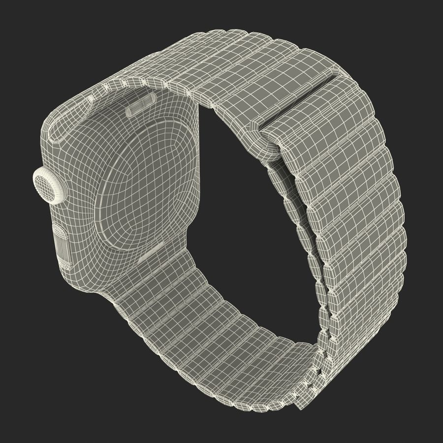 Apple Watch Brown Leather Magnetic Closure 2 3D 모델 royalty-free 3d model - Preview no. 27