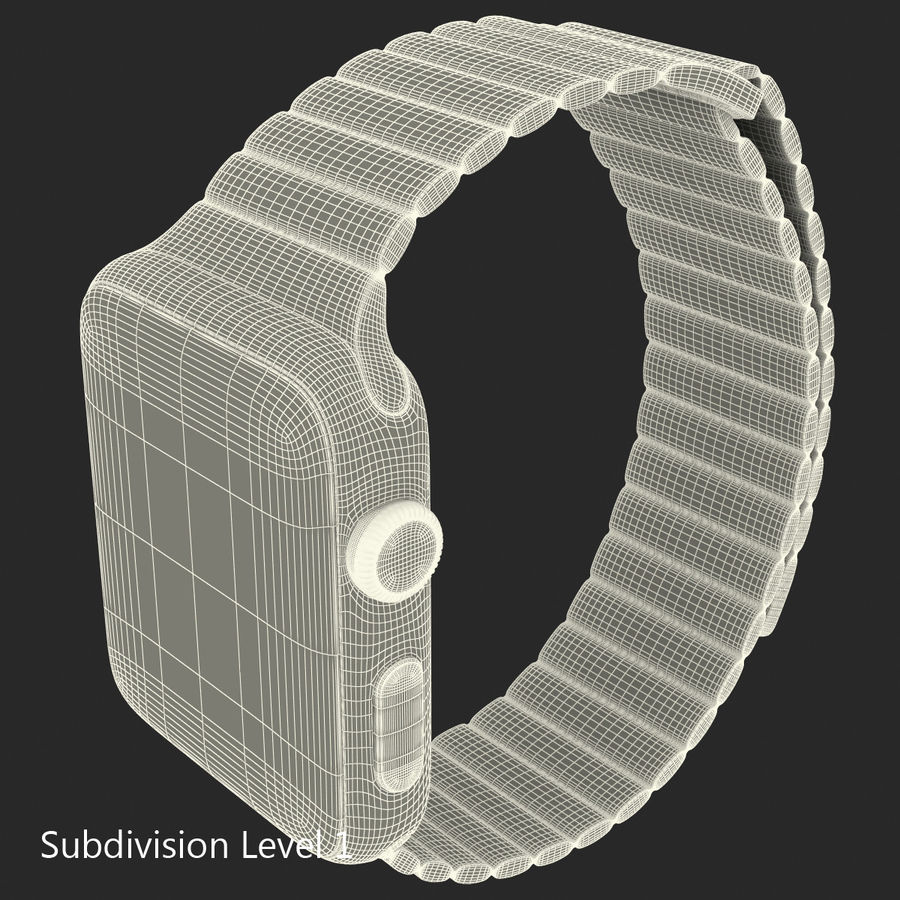 Apple Watch Brown Leather Magnetic Closure 2 3D 모델 royalty-free 3d model - Preview no. 22