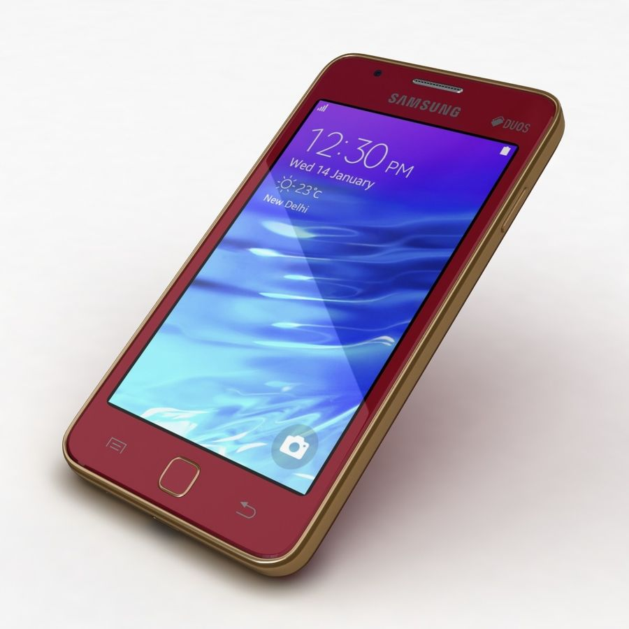 Samsung Z1 Wine Red royalty-free 3d model - Preview no. 20