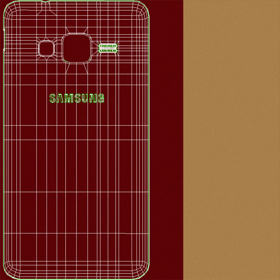Samsung Z1 Wine Red royalty-free 3d model - Preview no. 24