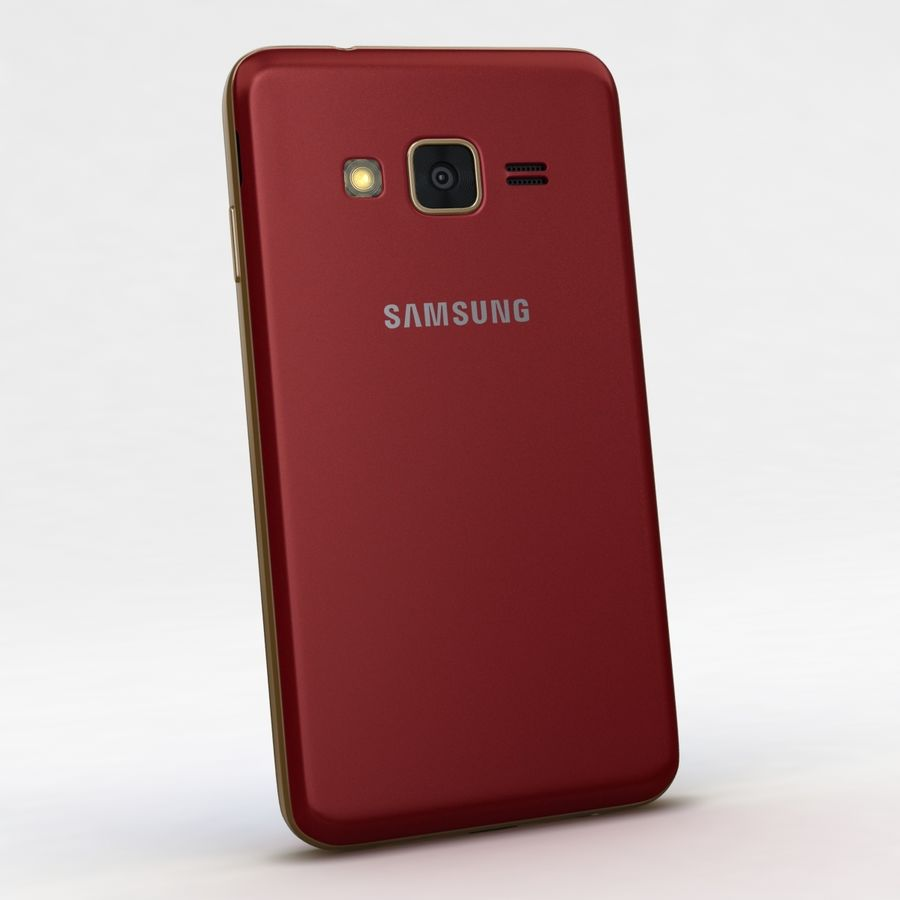 Samsung Z1 Wine Red royalty-free 3d model - Preview no. 5