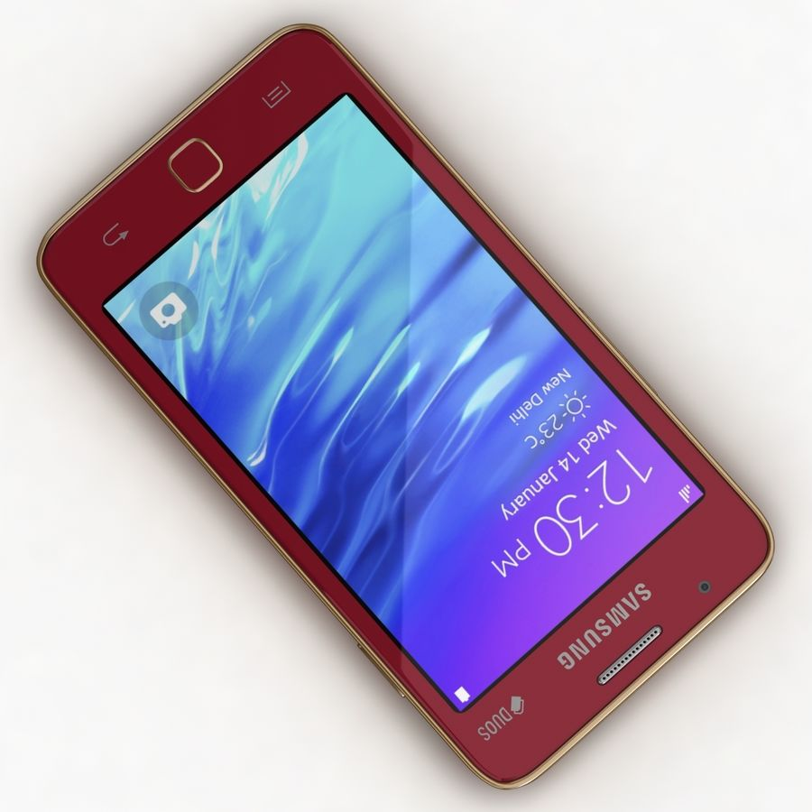 Samsung Z1 Wine Red royalty-free 3d model - Preview no. 8