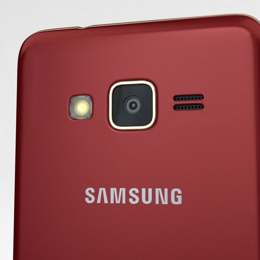 Samsung Z1 Wine Red royalty-free 3d model - Preview no. 18