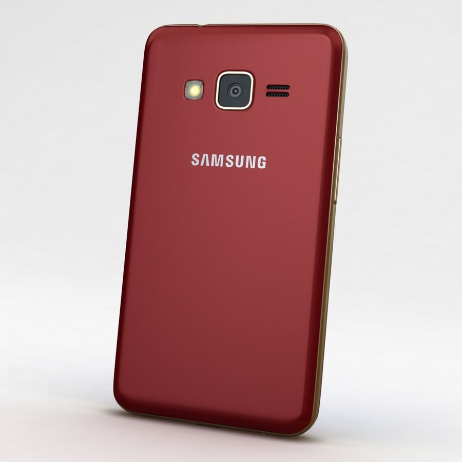 Samsung Z1 Wine Red royalty-free 3d model - Preview no. 6