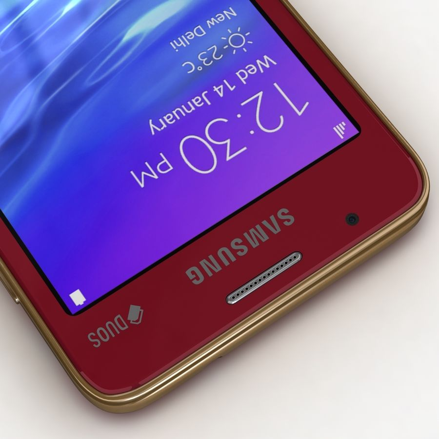 Samsung Z1 Wine Red royalty-free 3d model - Preview no. 10