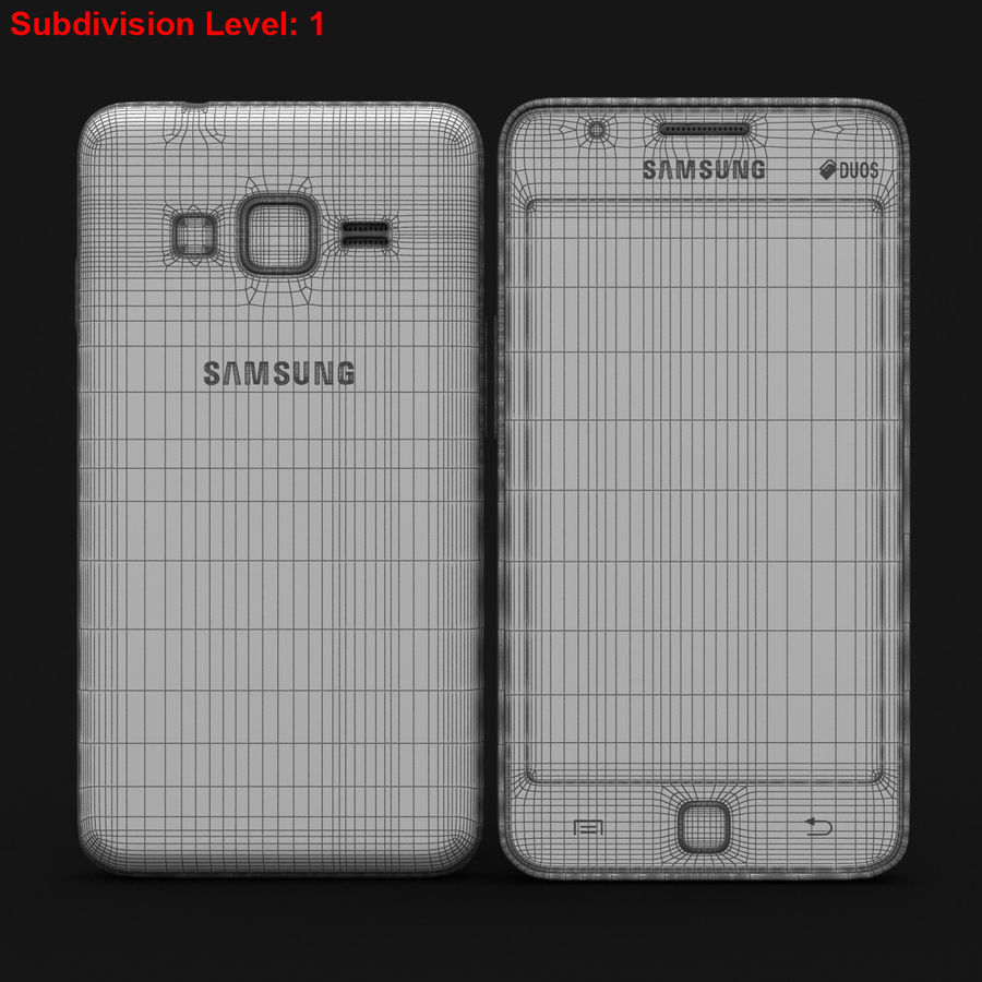 Samsung Z1 Wine Red royalty-free 3d model - Preview no. 26