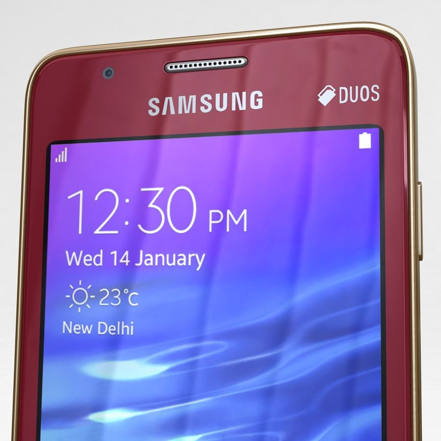Samsung Z1 Wine Red royalty-free 3d model - Preview no. 23
