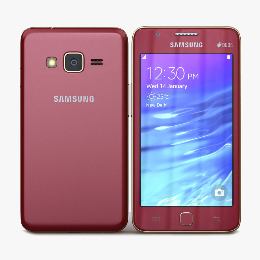 Samsung Z1 Wine Red royalty-free 3d model - Preview no. 1