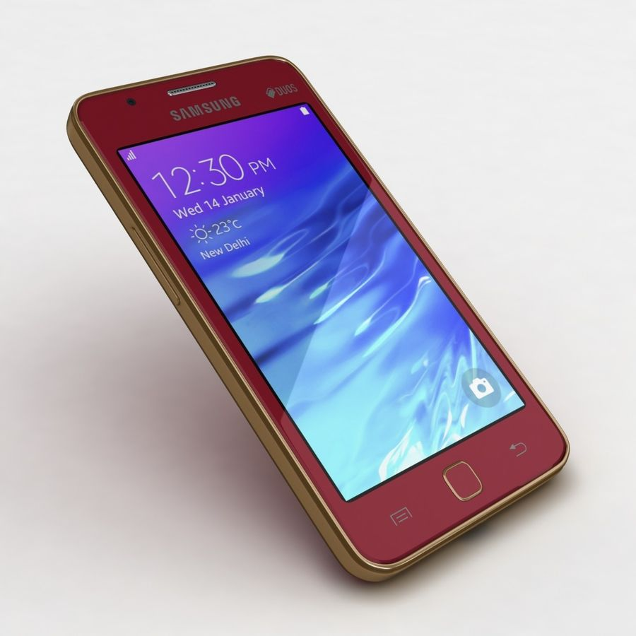 Samsung Z1 Wine Red royalty-free 3d model - Preview no. 19