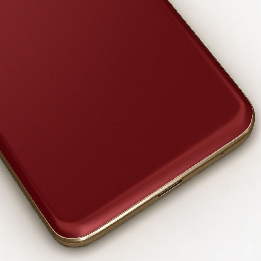 Samsung Z1 Wine Red royalty-free 3d model - Preview no. 13
