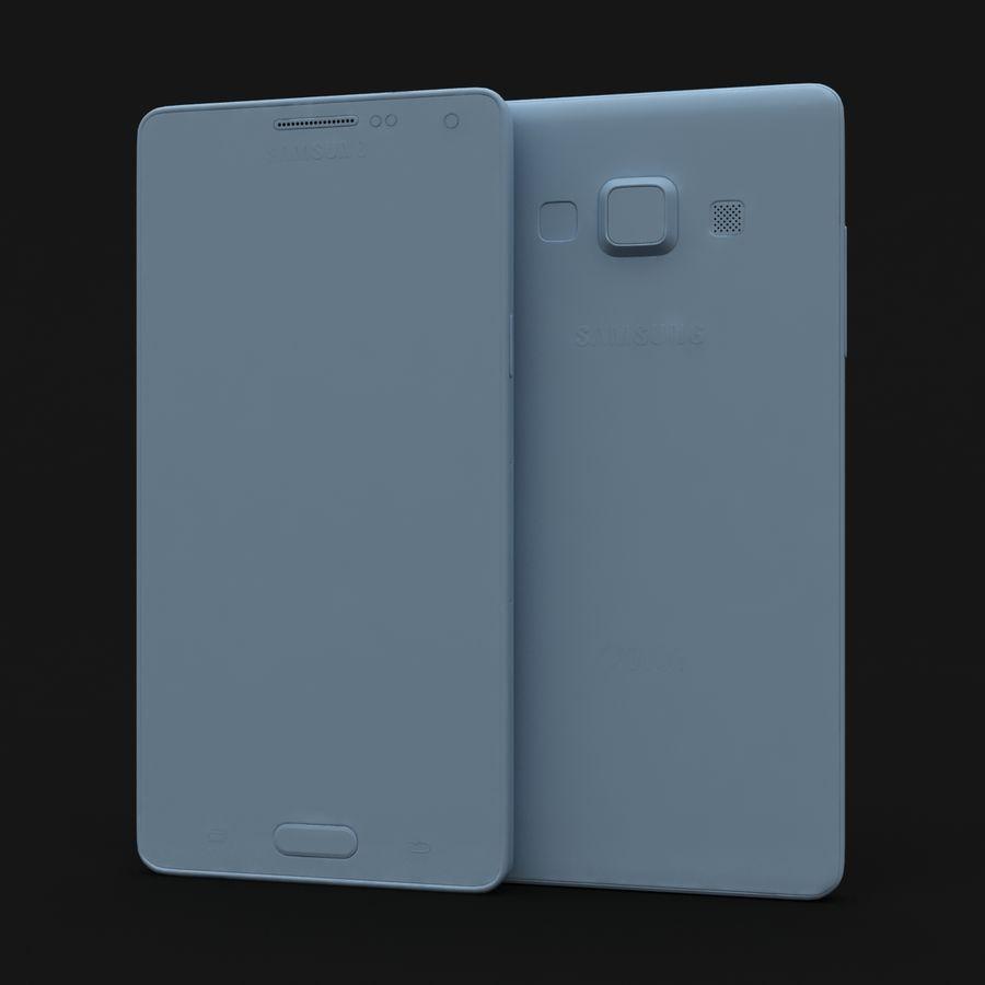Samsung Galaxy A5 och A5 Duos Silver royalty-free 3d model - Preview no. 26