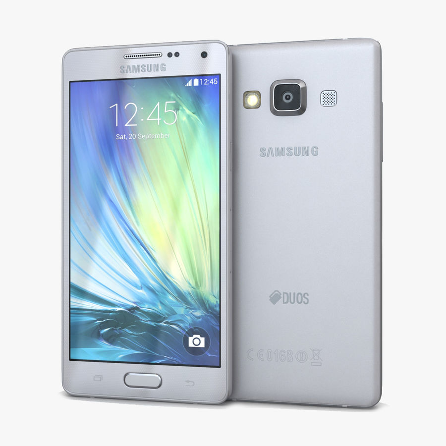 Samsung Galaxy A5 och A5 Duos Silver royalty-free 3d model - Preview no. 1