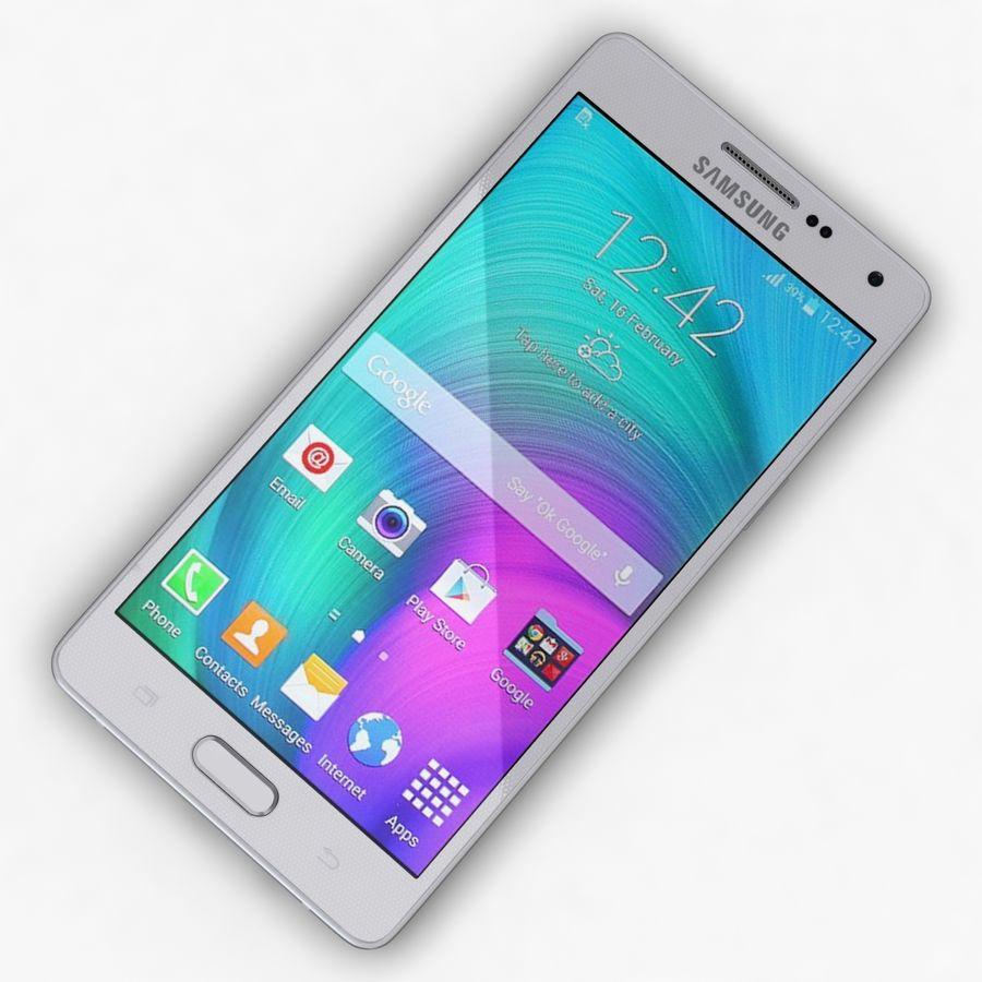 Samsung Galaxy A5 och A5 Duos Silver royalty-free 3d model - Preview no. 7