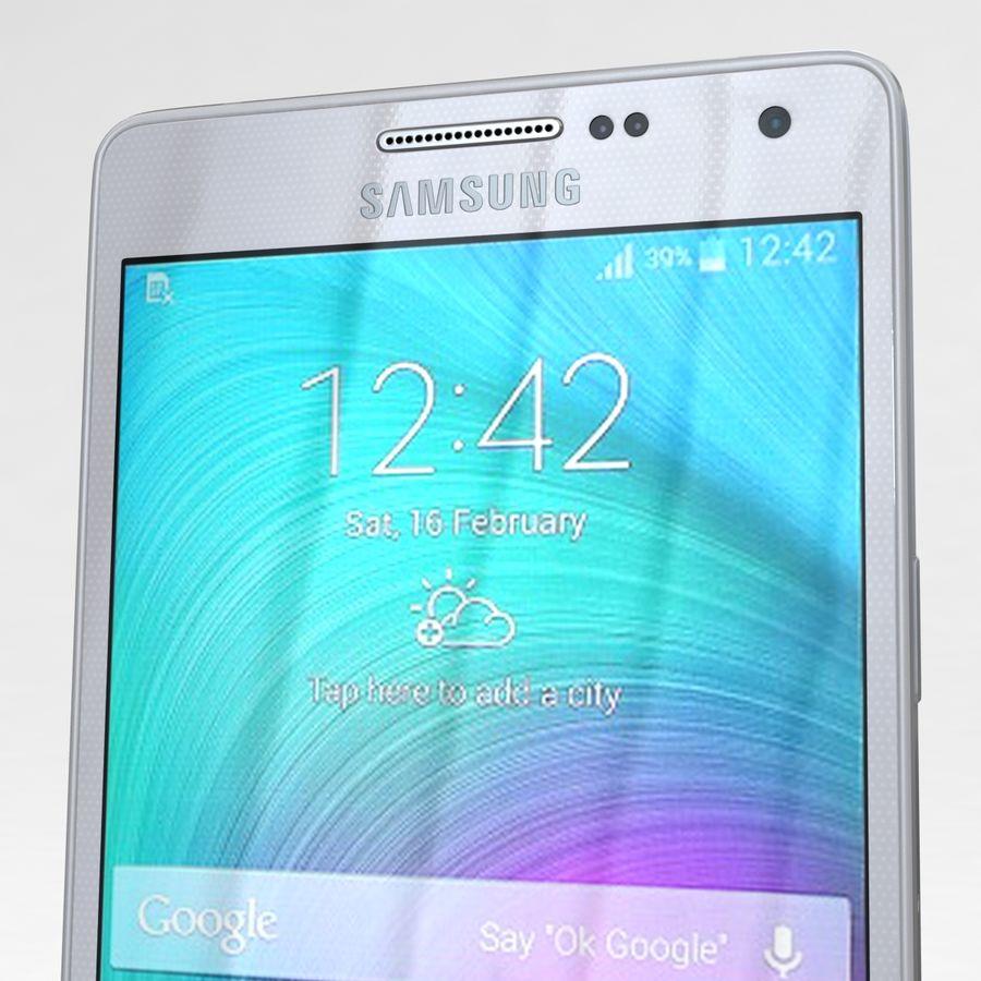 Samsung Galaxy A5 och A5 Duos Silver royalty-free 3d model - Preview no. 24