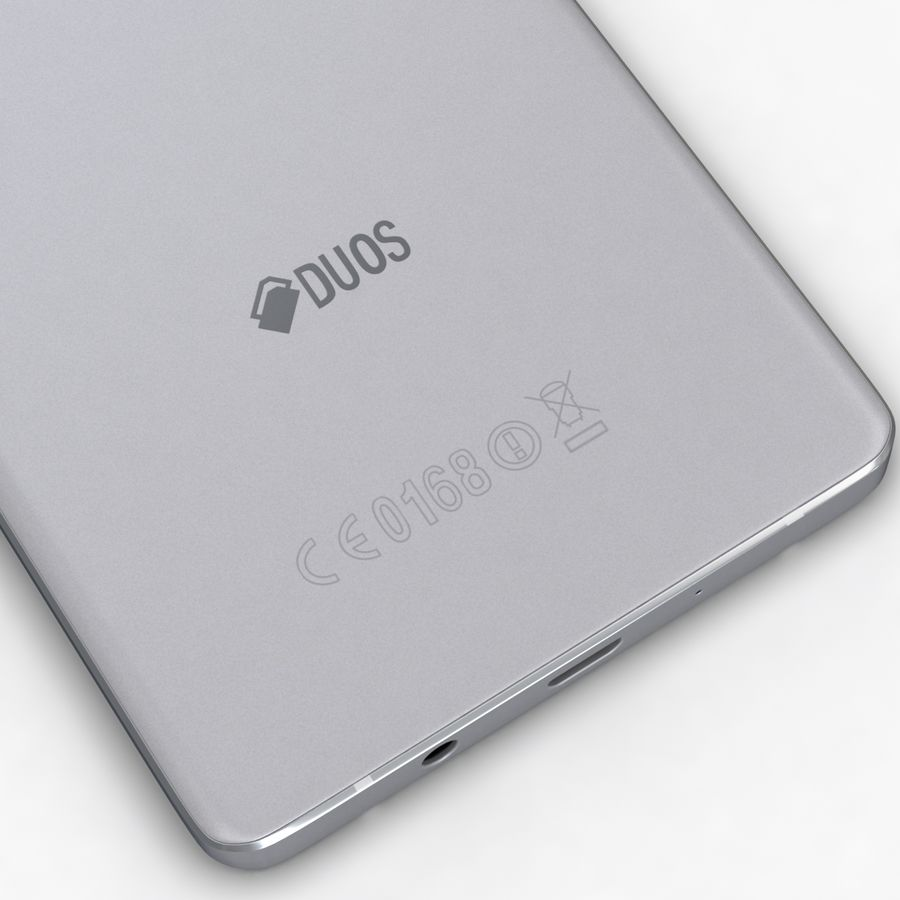 Samsung Galaxy A5 och A5 Duos Silver royalty-free 3d model - Preview no. 14