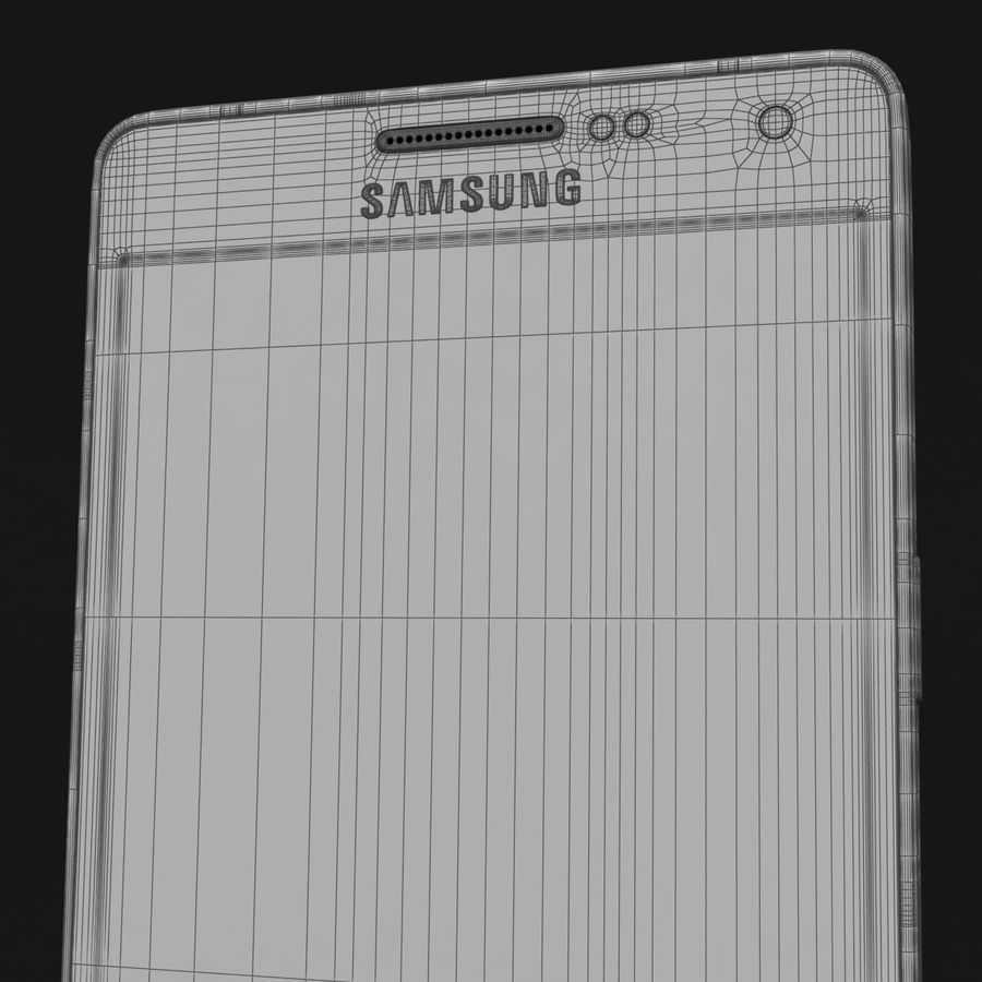 Samsung Galaxy A5 och A5 Duos Silver royalty-free 3d model - Preview no. 43