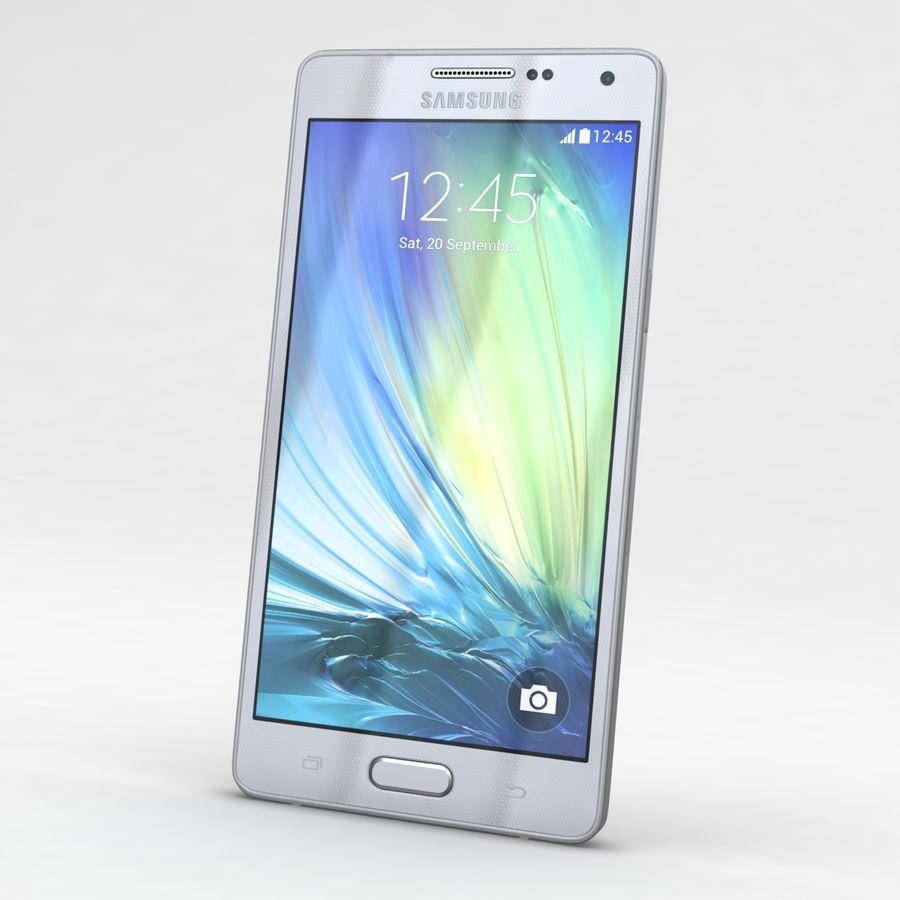 Samsung Galaxy A5 och A5 Duos Silver royalty-free 3d model - Preview no. 3