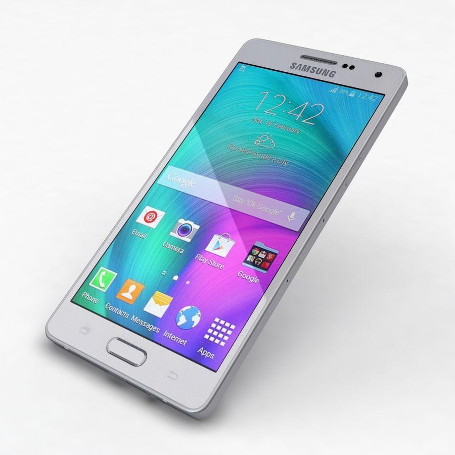 Samsung Galaxy A5 och A5 Duos Silver royalty-free 3d model - Preview no. 21