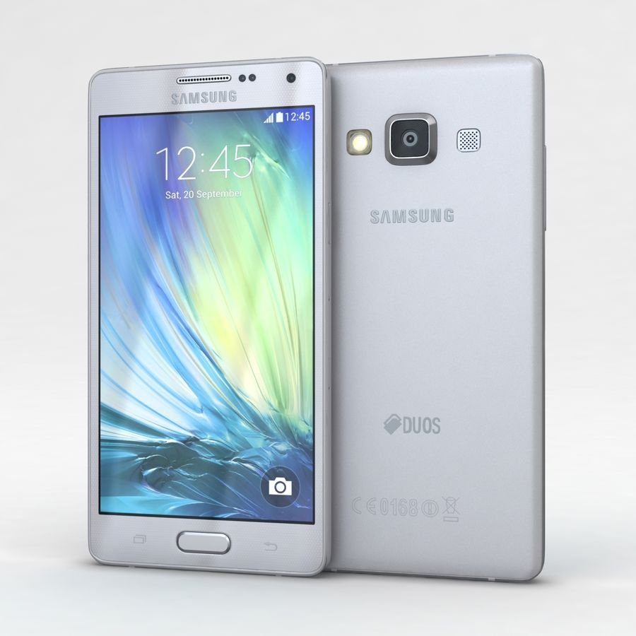 Samsung Galaxy A5 och A5 Duos Silver royalty-free 3d model - Preview no. 2