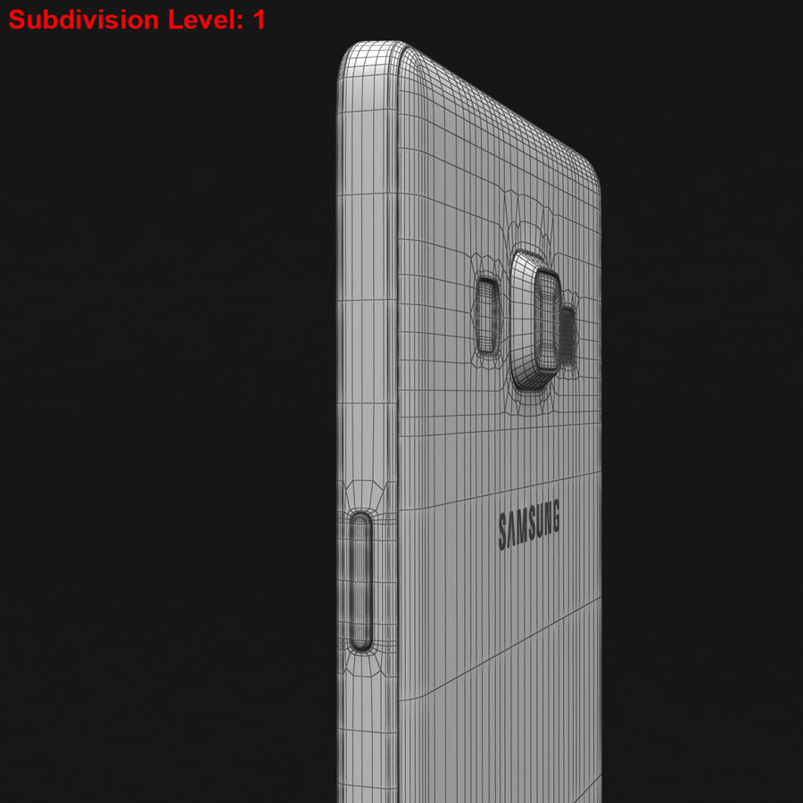 Samsung Galaxy A5 och A5 Duos Silver royalty-free 3d model - Preview no. 31