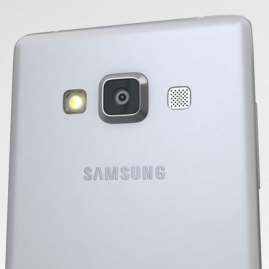 Samsung Galaxy A5 och A5 Duos Silver royalty-free 3d model - Preview no. 19