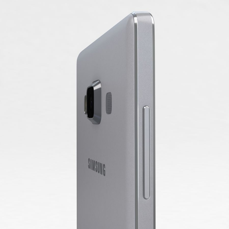 Samsung Galaxy A5 och A5 Duos Silver royalty-free 3d model - Preview no. 18
