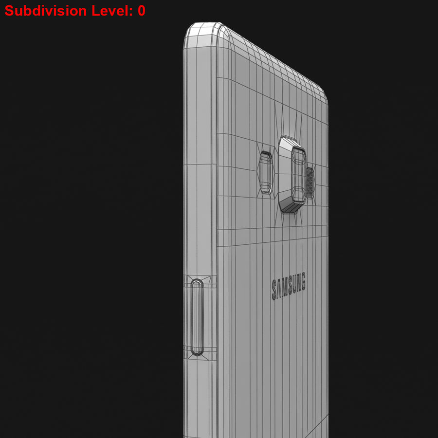 Samsung Galaxy A5 och A5 Duos Silver royalty-free 3d model - Preview no. 32