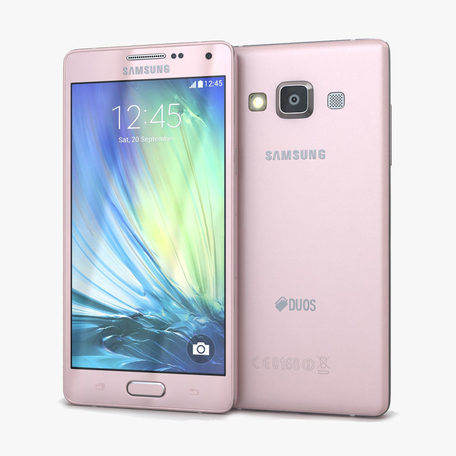 Samsung Galaxy A5 och A5 Duos Soft Pink royalty-free 3d model - Preview no. 1
