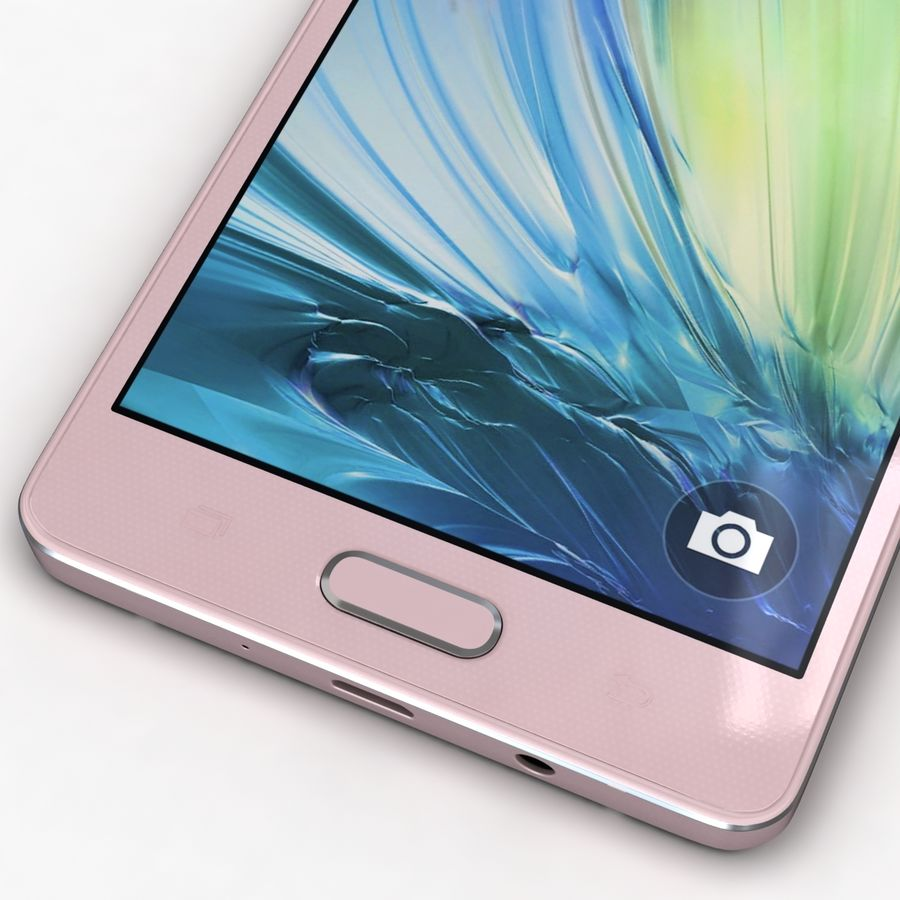 Samsung Galaxy A5 och A5 Duos Soft Pink royalty-free 3d model - Preview no. 9