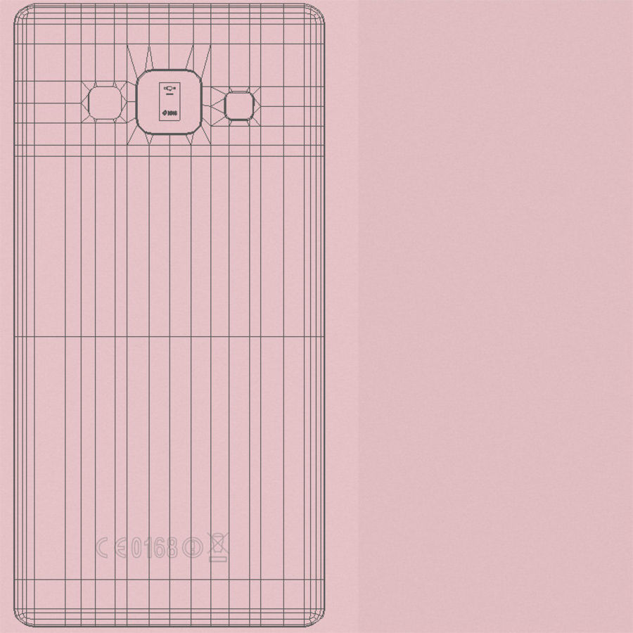 Samsung Galaxy A5 och A5 Duos Soft Pink royalty-free 3d model - Preview no. 25