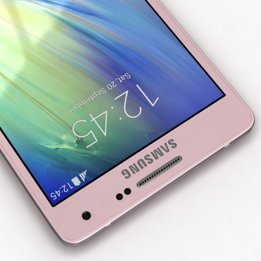 Samsung Galaxy A5 och A5 Duos Soft Pink royalty-free 3d model - Preview no. 10