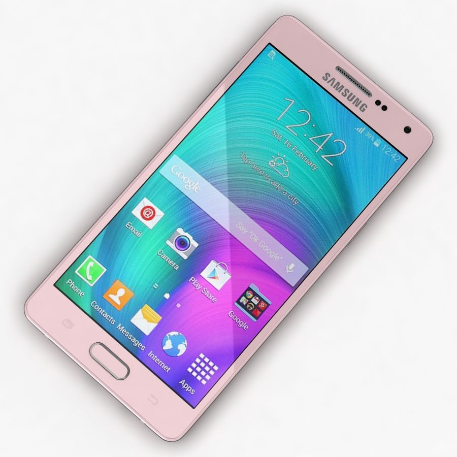 Samsung Galaxy A5 och A5 Duos Soft Pink royalty-free 3d model - Preview no. 7