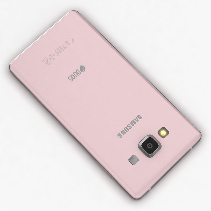 Samsung Galaxy A5 och A5 Duos Soft Pink royalty-free 3d model - Preview no. 12