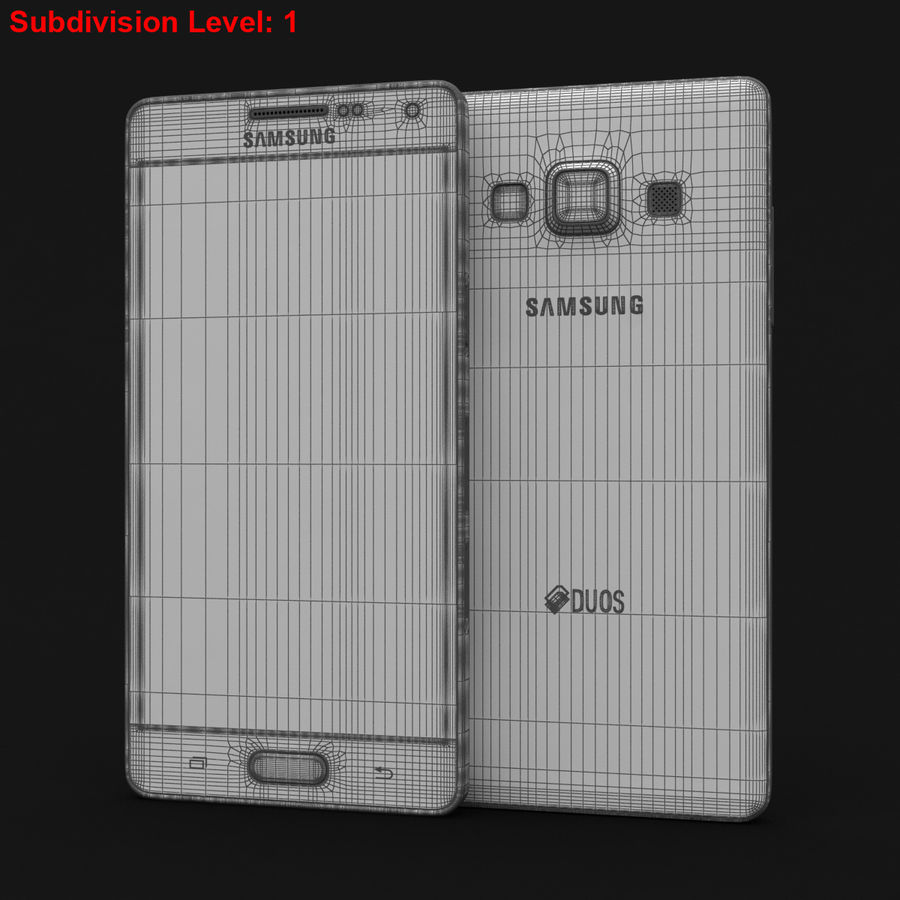 Samsung Galaxy A5 och A5 Duos Soft Pink royalty-free 3d model - Preview no. 27