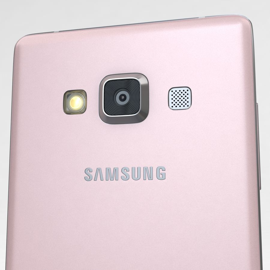 Samsung Galaxy A5 och A5 Duos Soft Pink royalty-free 3d model - Preview no. 19