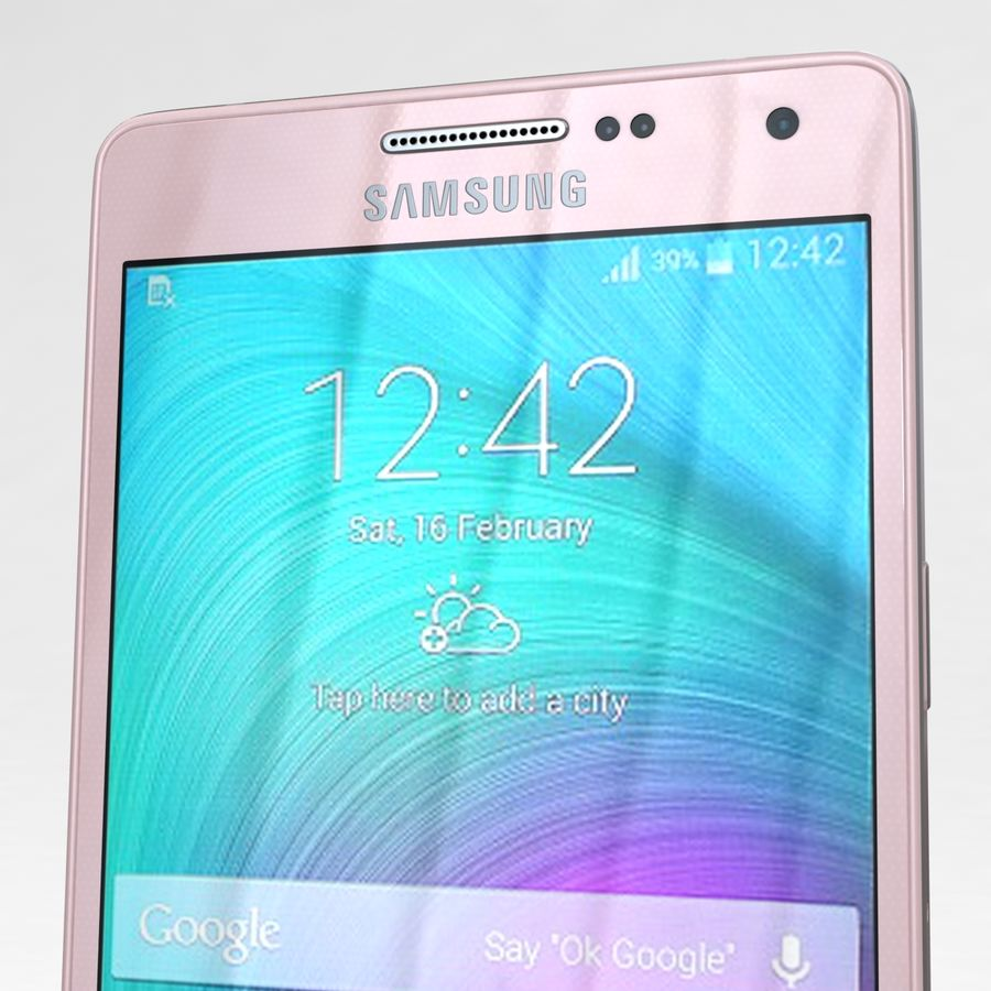 Samsung Galaxy A5 och A5 Duos Soft Pink royalty-free 3d model - Preview no. 24