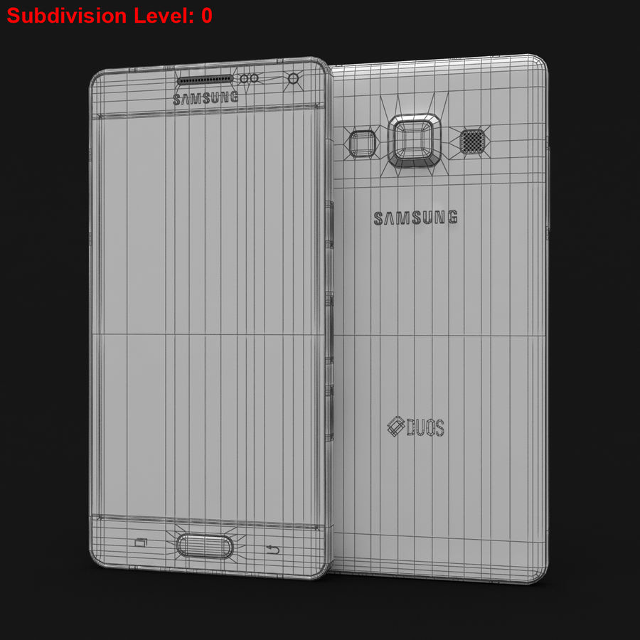 Samsung Galaxy A5 och A5 Duos Soft Pink royalty-free 3d model - Preview no. 28