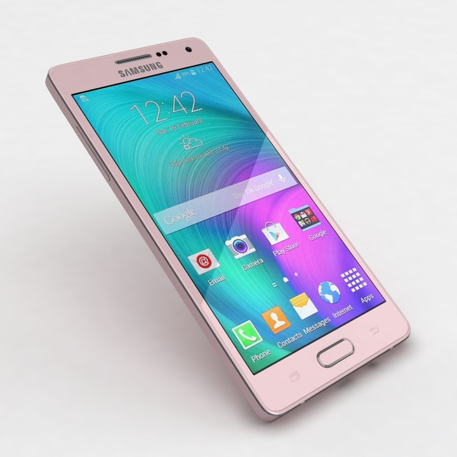 Samsung Galaxy A5 och A5 Duos Soft Pink royalty-free 3d model - Preview no. 20