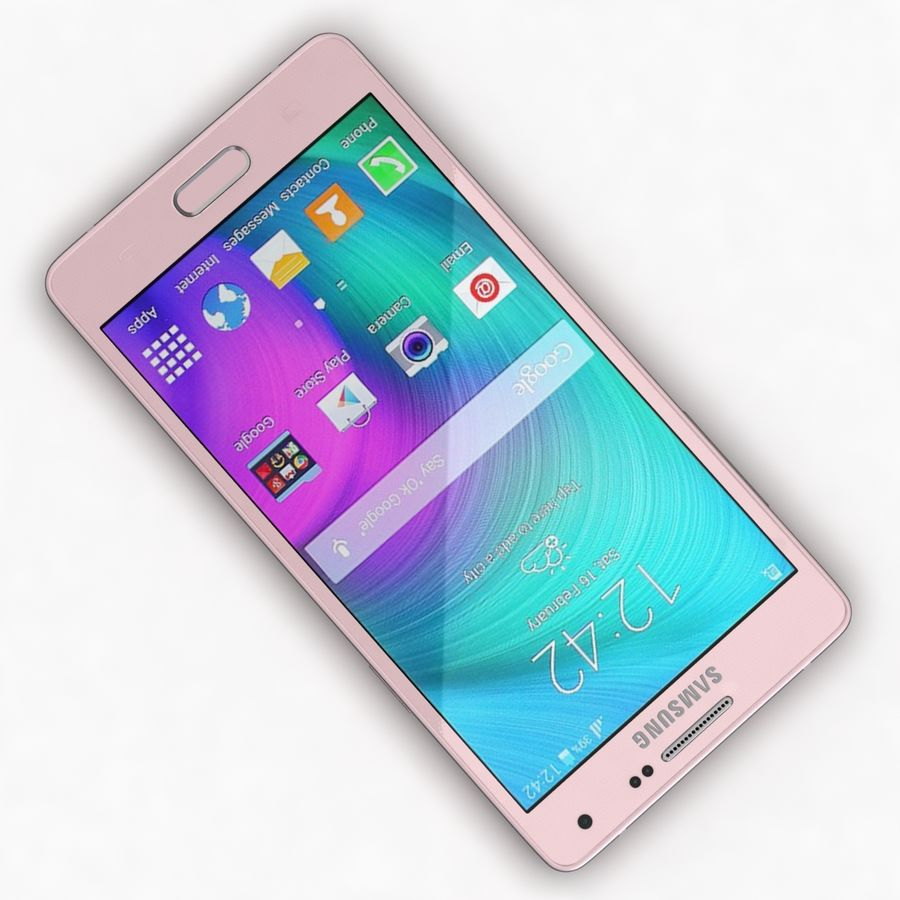 Samsung Galaxy A5 och A5 Duos Soft Pink royalty-free 3d model - Preview no. 8