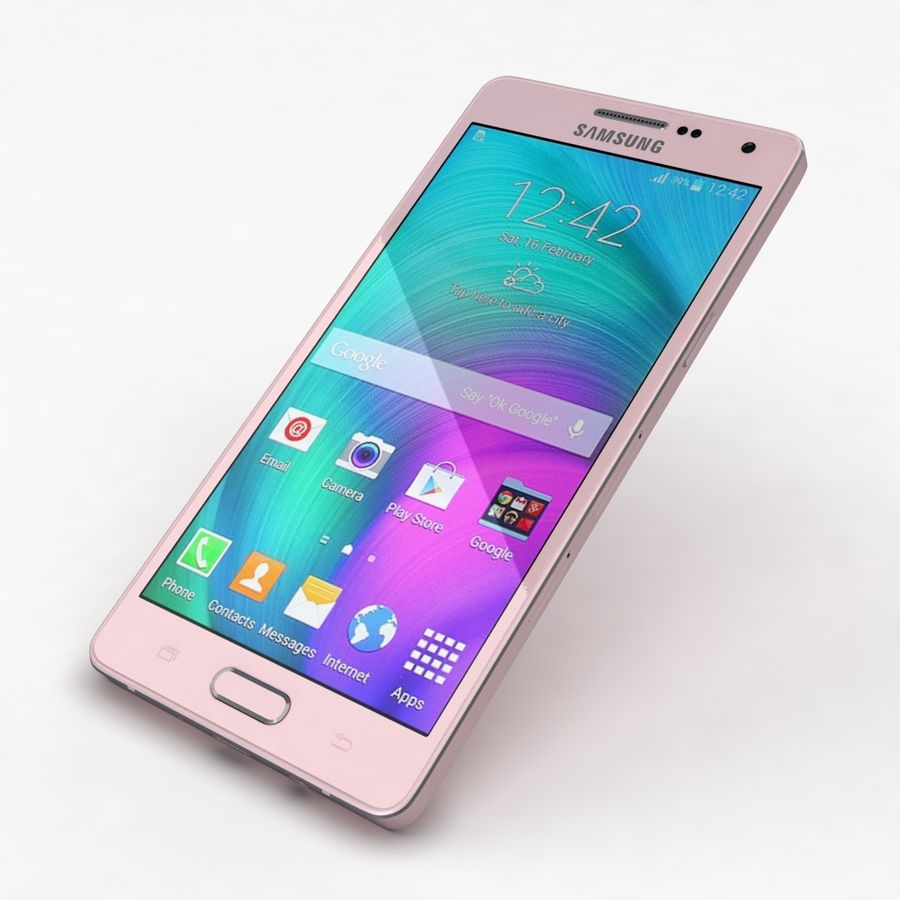 Samsung Galaxy A5 och A5 Duos Soft Pink royalty-free 3d model - Preview no. 21