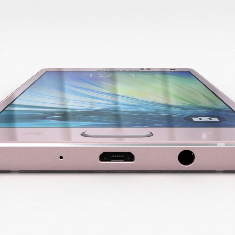 Samsung Galaxy A5 och A5 Duos Soft Pink royalty-free 3d model - Preview no. 16