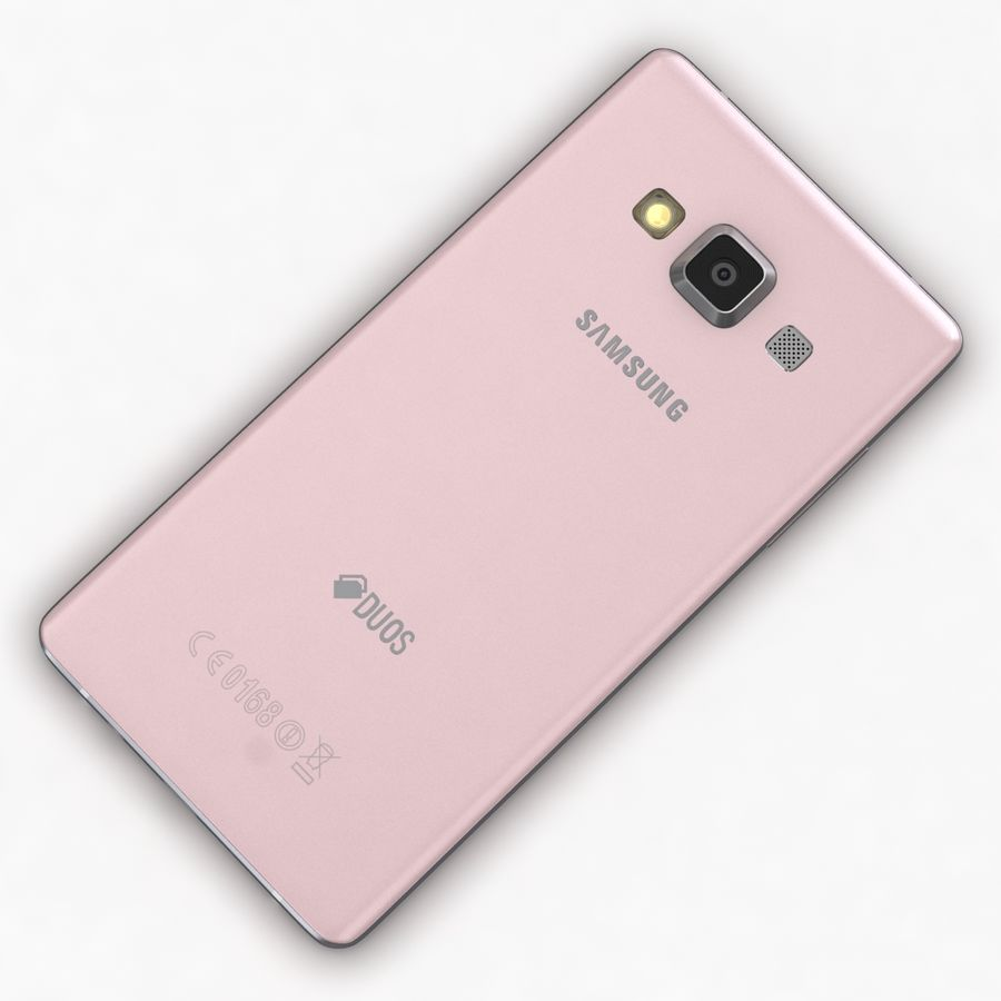 Samsung Galaxy A5 och A5 Duos Soft Pink royalty-free 3d model - Preview no. 13